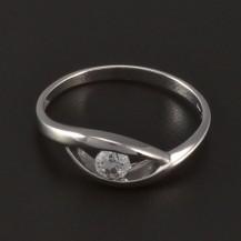 Decentní stříbrný prsten 4756