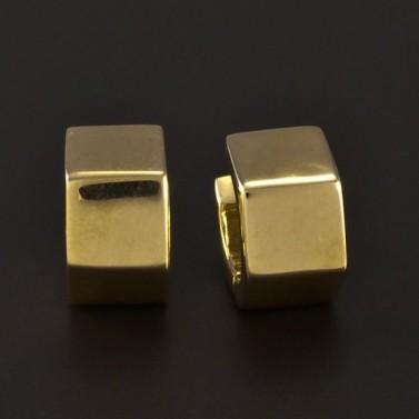 Zlaté masivní hranaté náušnice 4770 č.1