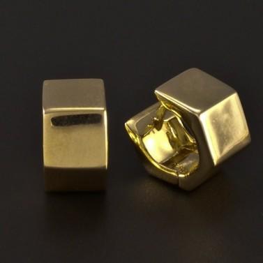 Zlaté masivní hranaté náušnice 4770 č.2