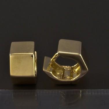Zlaté masivní hranaté náušnice 4770 č.3