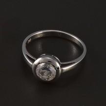 Zásnubní prsten stříbrný broušený zirkon 4777