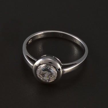 Zásnubní prsten stříbrný broušený zirkon 4777 č.1