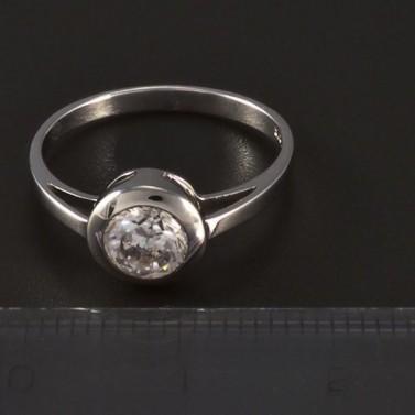 Zásnubní prsten stříbrný broušený zirkon 4777 č.2