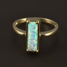 Zlatý prsten s opálem obdélníkovým 4813
