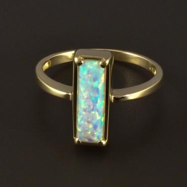 Zlatý prsten s opálem obdélníkovým 4813 č.1