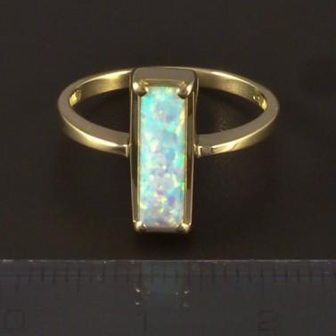 Zlatý prsten s opálem obdélníkovým 4813 č.2