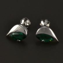 Smaragdové náušnice bílé zlato 4863