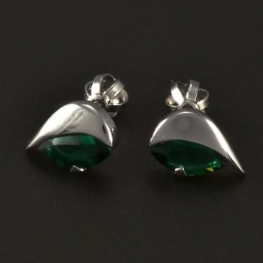 Smaragdové náušnice bílé zlato 4863 č.1