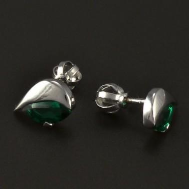 Smaragdové náušnice bílé zlato 4863 č.2