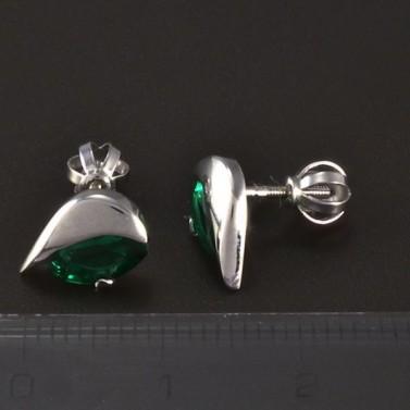 Smaragdové náušnice bílé zlato 4863 č.3