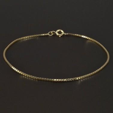 Zlatý jemný náramek šířka 4981 č.1