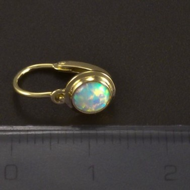 Zlaté dětské náušnice s kulatým opálem 5019 č.3