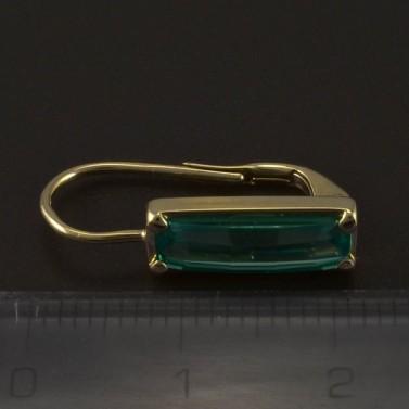 Zlaté náušnice obdélníkové smaragdy 5025 č.3