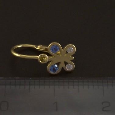 Zlaté dětské náušnice motýlci 5027 č.3