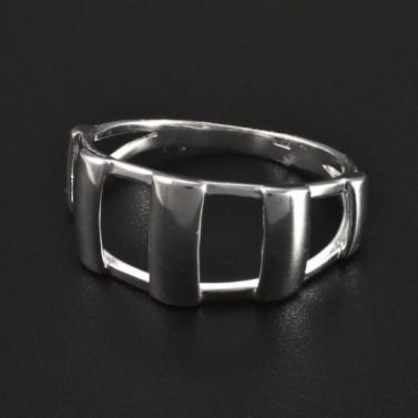 Stříbrný prořezávaný masivní prsten 5067 č.1