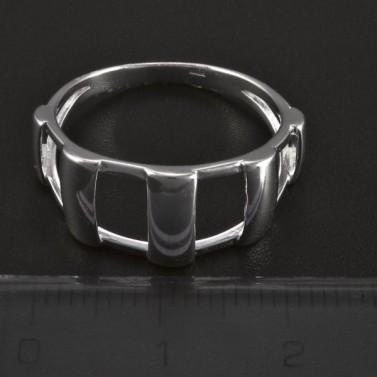 Stříbrný prořezávaný masivní prsten 5067 č.2