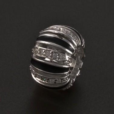 Stříbrný přívěsek černobílý 5089 č.1