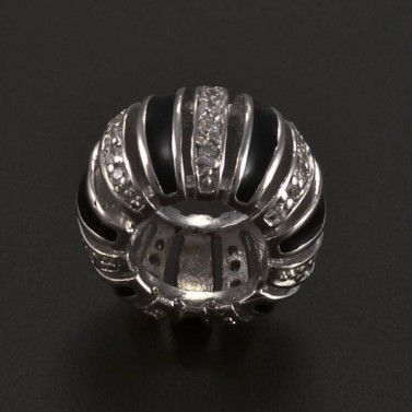 Stříbrný přívěsek černobílý 5089 č.2