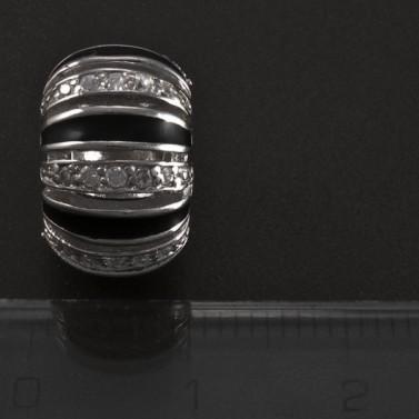 Stříbrný přívěsek černobílý 5089 č.3