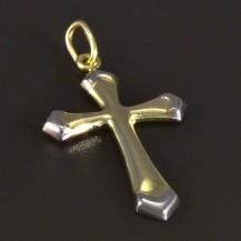 Zlatý křížek žlutobílá kombinace 5160