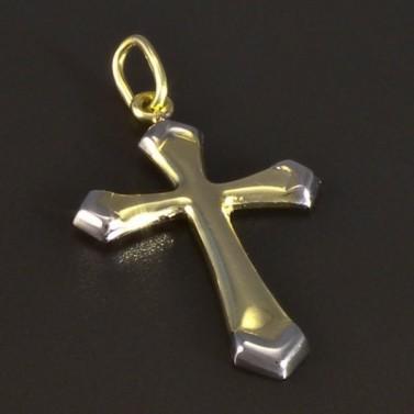 Zlatý křížek žlutobílá kombinace 5160 č.1