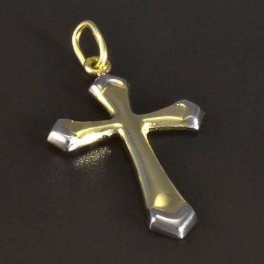 Zlatý křížek žlutobílá kombinace 5160 č.2