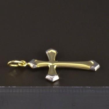 Zlatý křížek žlutobílá kombinace 5160 č.3