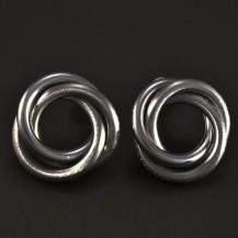 Náušnice ocelové propletené matné 5173