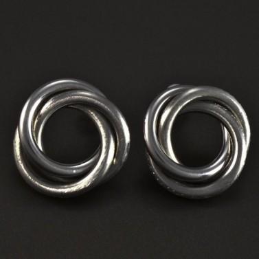 Náušnice ocelové propletené matné 5173 č.1