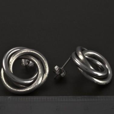 Náušnice ocelové propletené matné 5173 č.3