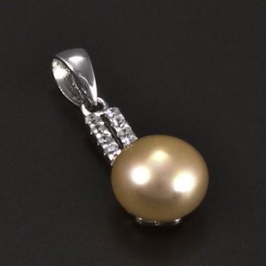 Stříbrný přívěsek přírodní perla 5206 č.1