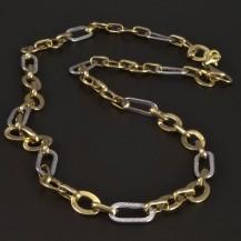Zlatý lesklý očkatý náhrdelník 5224