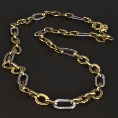 Zlatý lesklý očkatý náhrdelník 5224 č.1