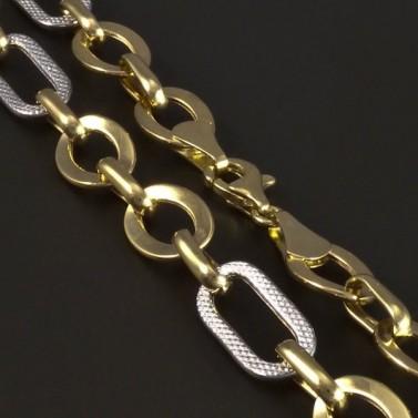 Zlatý lesklý očkatý náhrdelník 5224 č.2