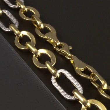 Zlatý lesklý očkatý náhrdelník 5224 č.3