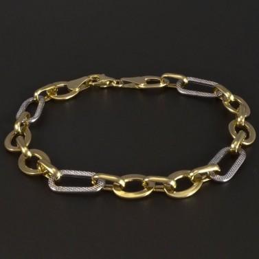 Zlatý náramek třpytivý 5225 č.1