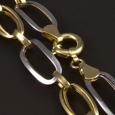 Zlatý náramek s velkými oky žlutobílý 5227 č.2