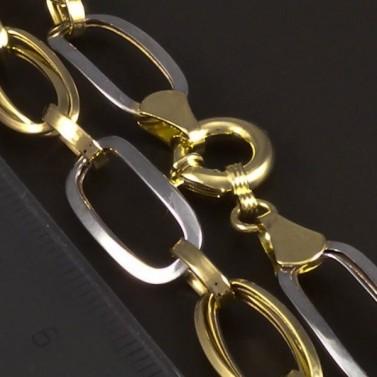Zlatý náramek s velkými oky žlutobílý 5227 č.3