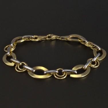Zlatý náramek žlutobílý 5229 č.1