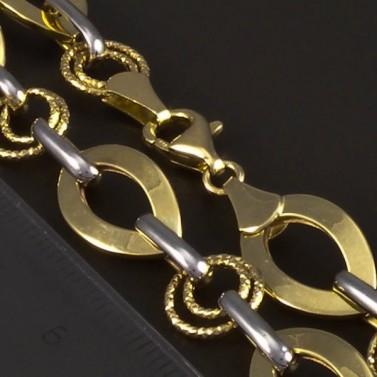 Zlatý náramek žlutobílý 5229 č.3