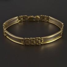 Masivní zlatý náramek s destičkami 5260