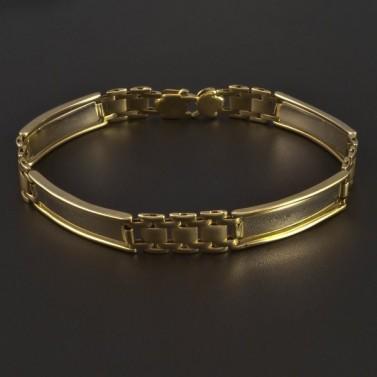 Masivní zlatý náramek s destičkami 5260 č.1