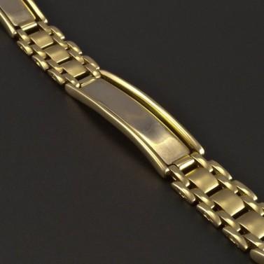 Masivní zlatý náramek s destičkami 5260 č.2