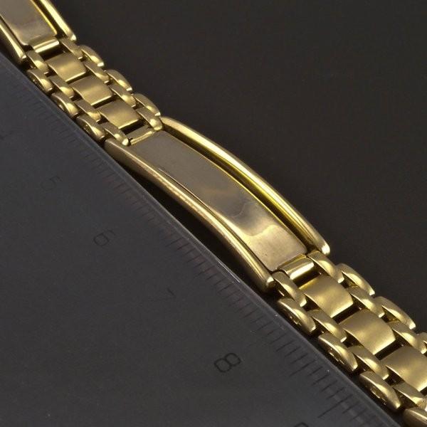 e167e9605 Masivní zlatý náramek s destičkami | goldpoint.cz