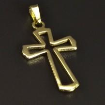 Zlatý prořezávaný křížek 5262