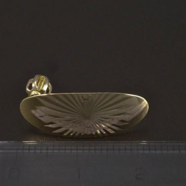 Zlaté oválné náušnice jemná rytina 5269 č.2