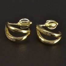 Zlaté náušnice malé zirkony 5271