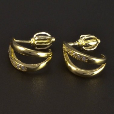 Zlaté náušnice malé zirkony 5271 č.1