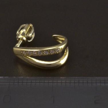 Zlaté náušnice malé zirkony 5271 č.3