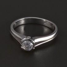 Jednoduchý zásnubní prsten bílé zlato 5281